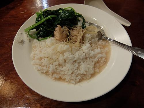 """""""ご飯に「酒に酔わせた鶏の肉のスープ」をかけて@ミリ"""""""