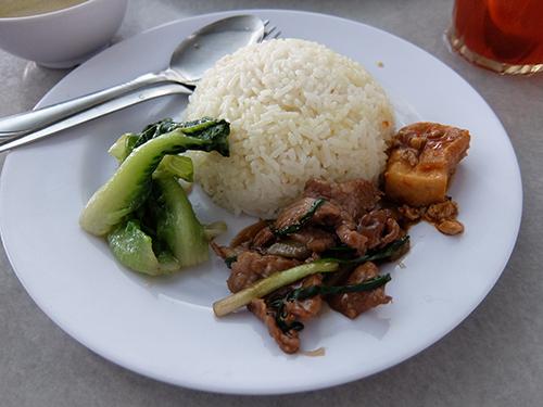 """""""お肉や野菜をバターライスと共にいただく@ミリチキンライスレストラン"""""""