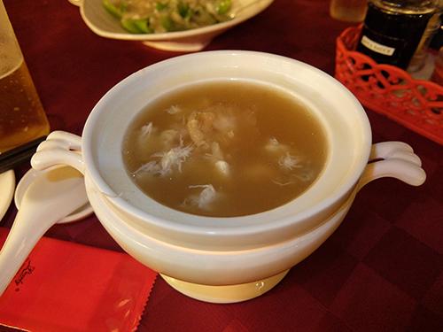 """""""蟹肉などが入ったフカヒレスープ(とても美味しかった)@コタキナバルPort"""