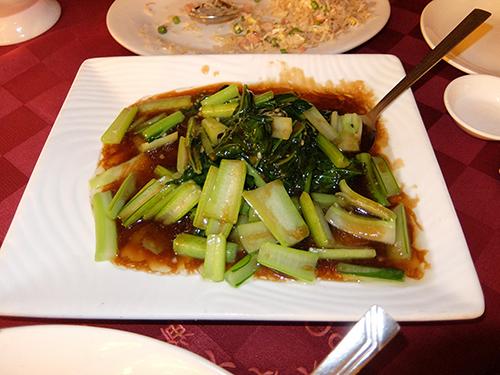 """""""野菜料理オイスターソース(何の野菜かは知らない)@コタキナバルPort"""