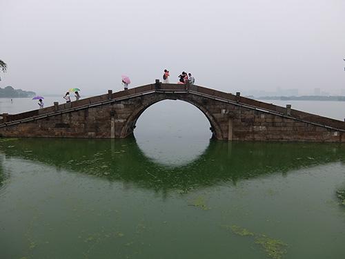 """""""橋から太湖を見る@無錫"""""""