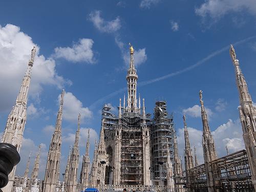 """""""ドゥオーモの屋上@ミラノ"""""""