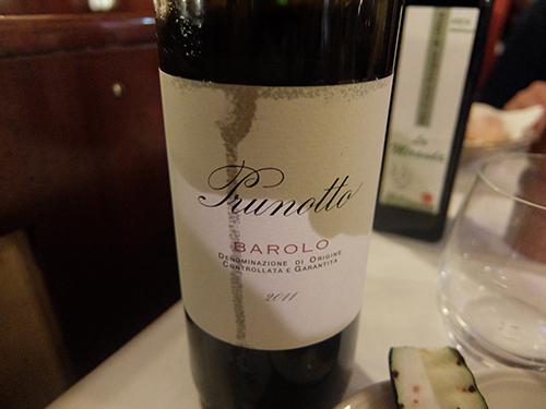 美味しい赤ワイン@Ristorante Da Bruno,ミラノ