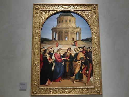 """""""ラファエロの「マリアの結婚」@ブレラ絵画館"""""""