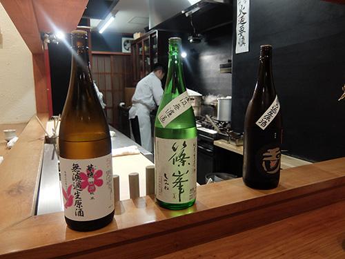 """""""日本酒もどんどんいきますよ@佳肴岡もと"""""""