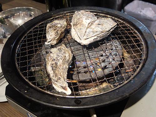 """""""焼き牡蠣@かき小屋新橋"""""""