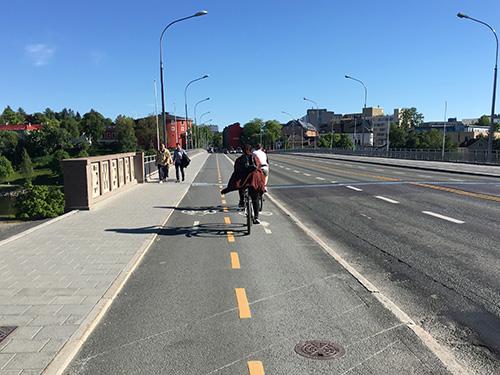 整備された自転車道@トロンハイム