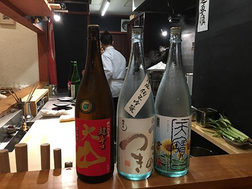 """""""料理に合うおすすめの日本酒を出してもらう@佳肴岡もと"""""""