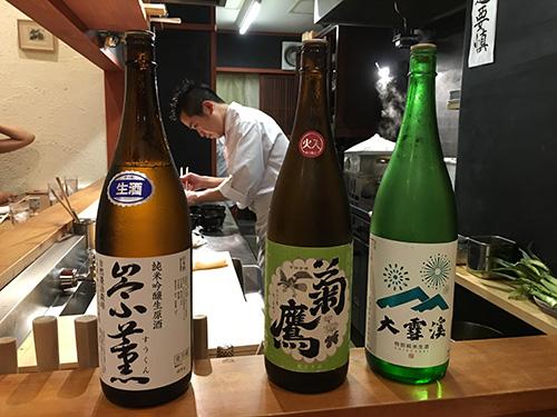 """""""どんどん日本酒もいただく@佳肴岡もと"""""""