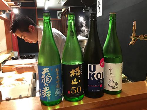 """""""さらに日本酒をいただく@佳肴岡もと"""""""