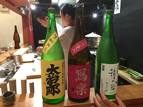 """""""まだ日本酒を飲む@佳肴岡もと"""""""