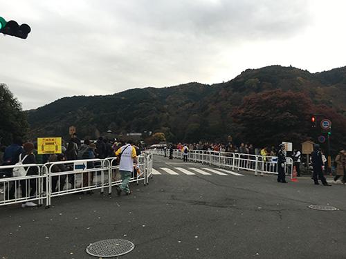 """""""渡月橋はサーキット"""""""