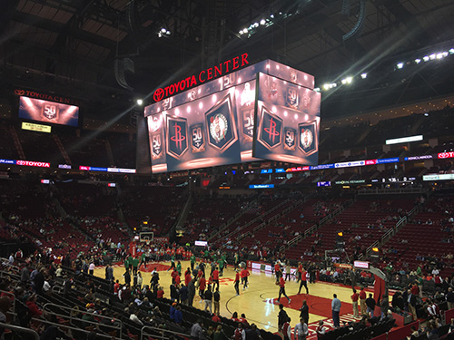 Houston Rockets vs Boston Celtics @Toyota Center