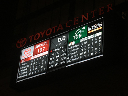 Houston Rockets 107 vs Boston Celtics 106