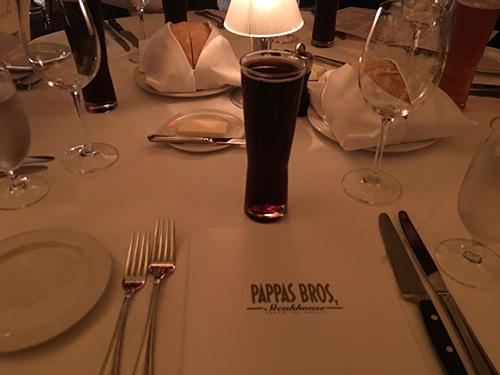 ヒューストンでの最後の晩餐をビールで始める