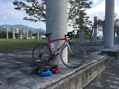 琵琶湖一周(約200km)完走後.ロードバイク収納前.
