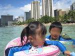 DAY8: ワイキキビーチと屋上プールで水遊び
