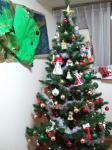 クリスマスツリー,クリスマスケーキ,そしてサンタクロースからのプレゼント
